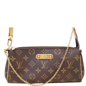 LOUIS VUITTON POCHETTE EVA MONOGRAM CANVAS CLUTCH